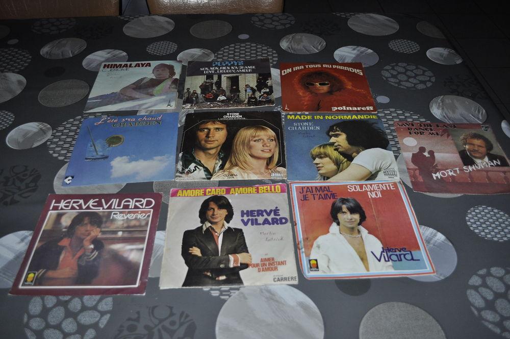 Lot de 45 tours vinyles avec entre autre  Hervé Vilard  10 Perreuil (71)