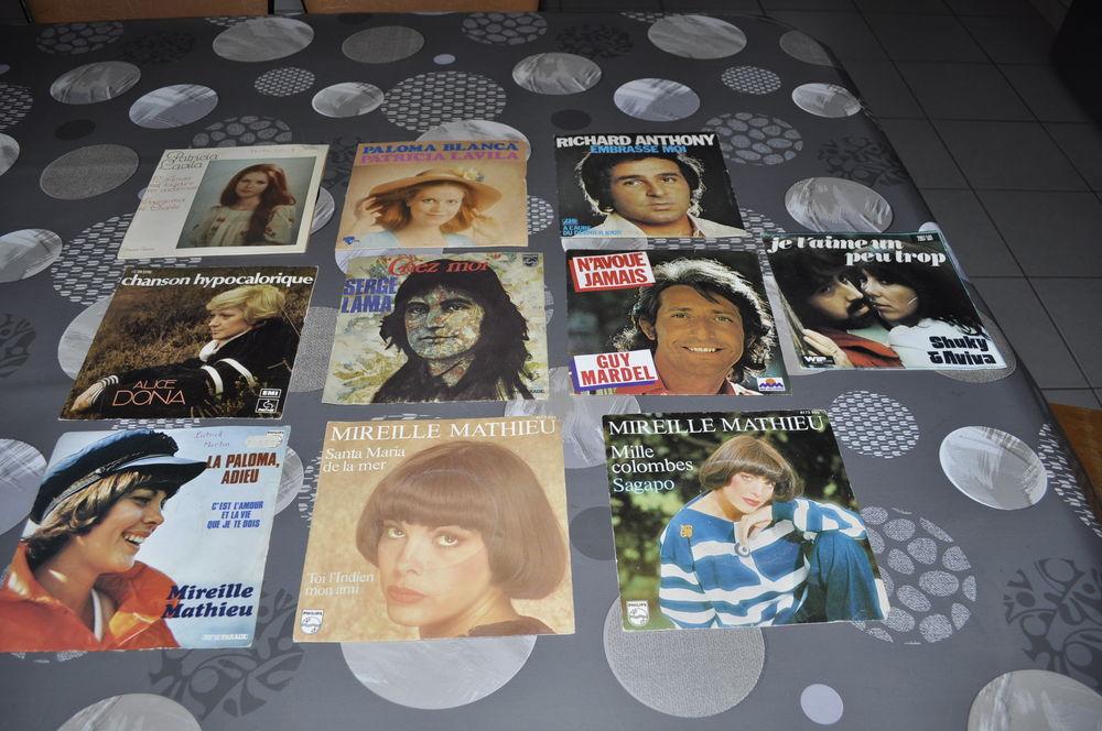 Lot de 45 tours vinyles avec entre autre  Mireille Mathieu  10 Perreuil (71)