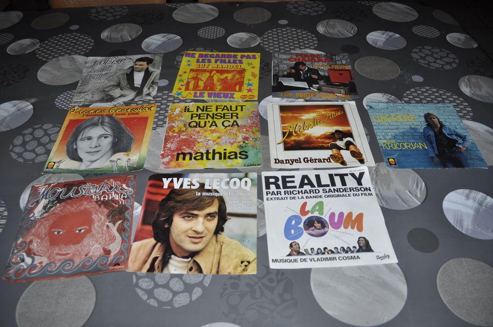 Lot de 45 tours vinyles avec entre autre  le film La boum  10 Perreuil (71)