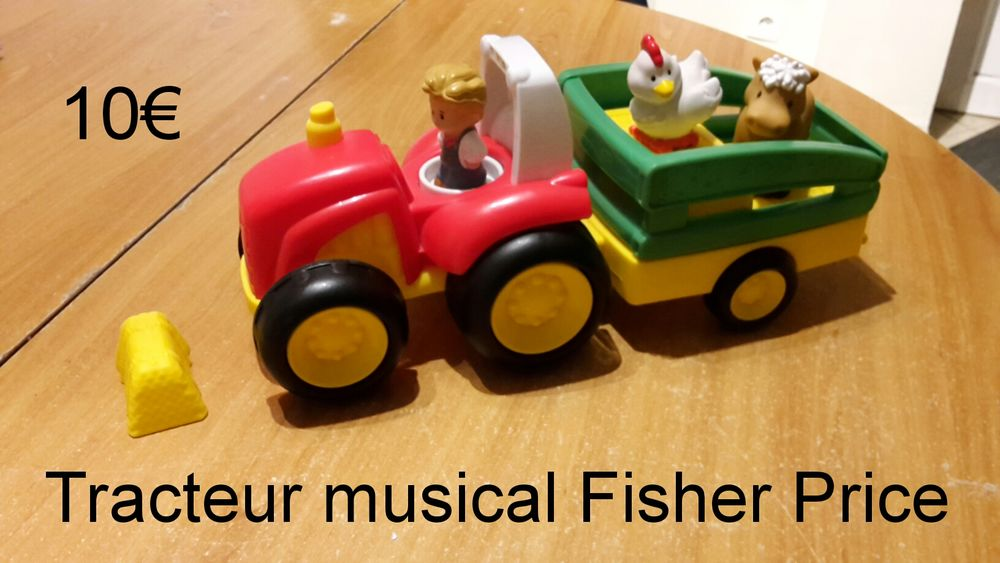 Tracteur Little People Fisher Price 10 Beton-Bazoches (77)