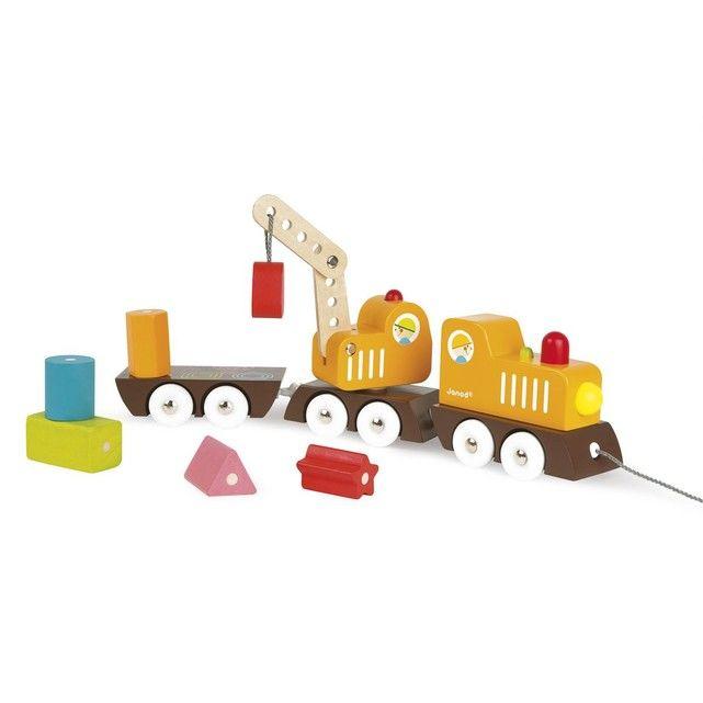 Train Grue Multi Colors en bois - Janod 15 Vincennes (94)
