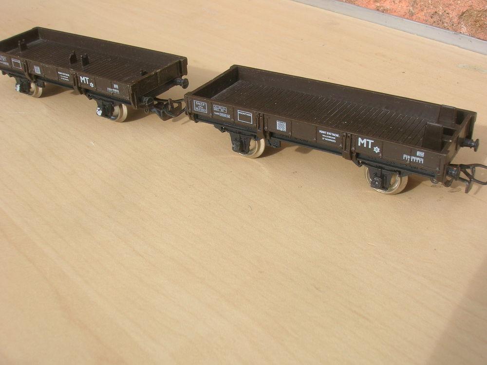 Train HO Jouef  lot Wagons  pour GRUE   Jho162503     MT > 20 Marseille 1 (13)