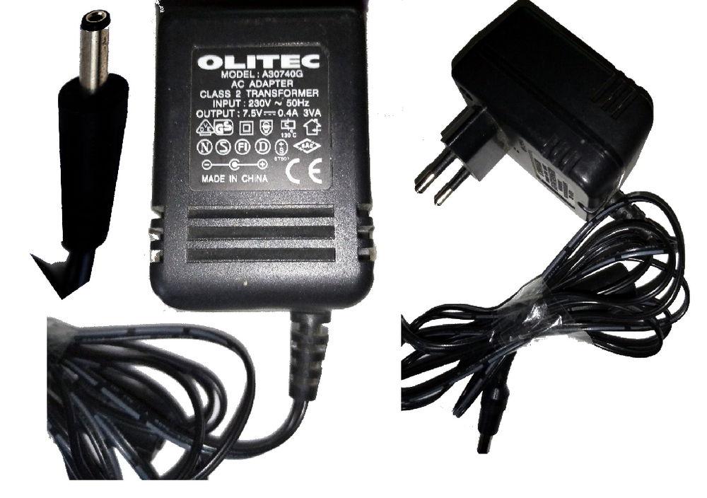 Transformateur 230 / 7,5 v AC-DC OLITEC A30740G 11 Mazingarbe (62)