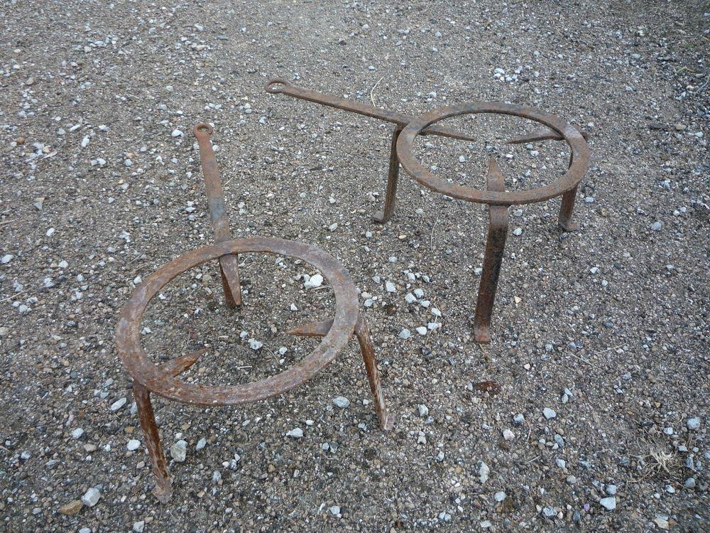 Trépieds fer forgé/cheminée diamètre 24cm h 15cm/19cm longue Bricolage