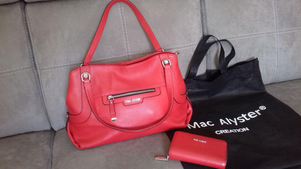 Très beau sac Mac Alyster et compagnon cuir rouge NEUF 145 Colmar (68)