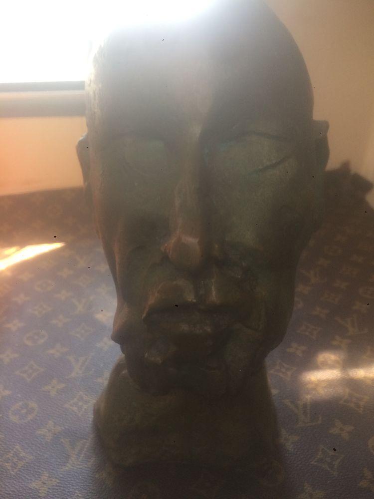 Très beau buste en bronze jean roulland  300 Nangis (77)