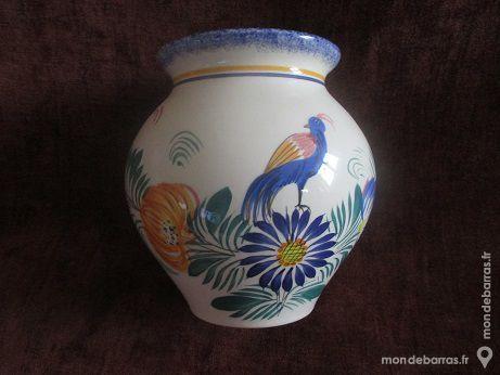 Très beau vase FAIENCE QUIMPER TBE 40 Tonquédec (22)