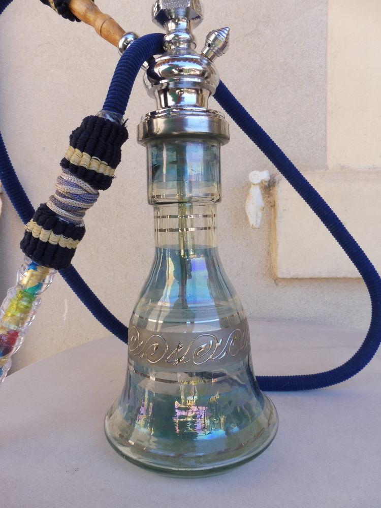 Très belle CHICHA décorée, en verre et acier inox,démontable 15 Marseille 5 (13)