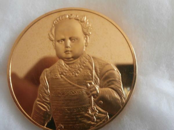 tres belle médaille plaque or de 25 carras sur bronze  30 Argelès-sur-Mer (66)