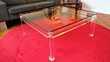 Très belle Table basse carré en Altuglas Roche Bobois Meubles
