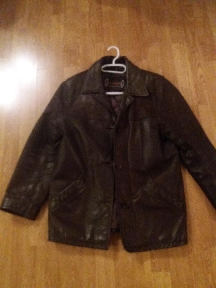Très belle veste marron cuir vachette 110 Reims (51)
