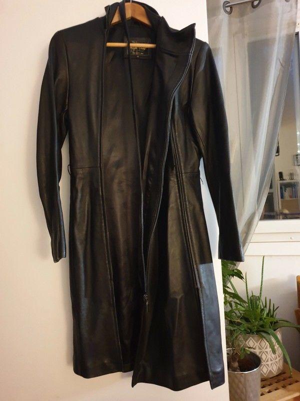 Très belle veste longue en cuir noir 0 Rueil-Malmaison (92)