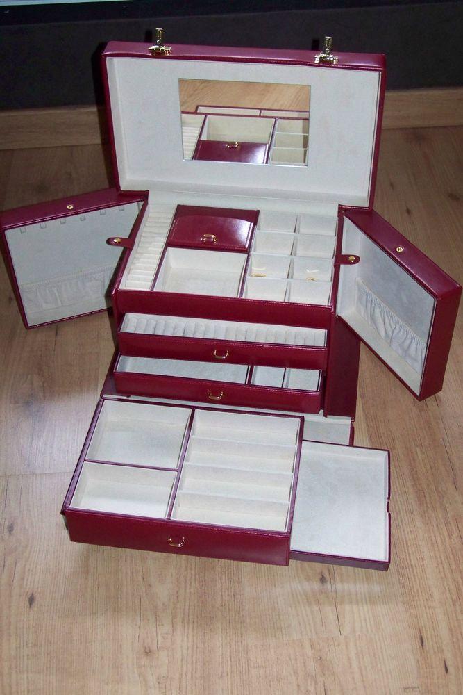 très grand coffre à bijoux de luxe, en cuir, NEUF 250 Abbeville (80)