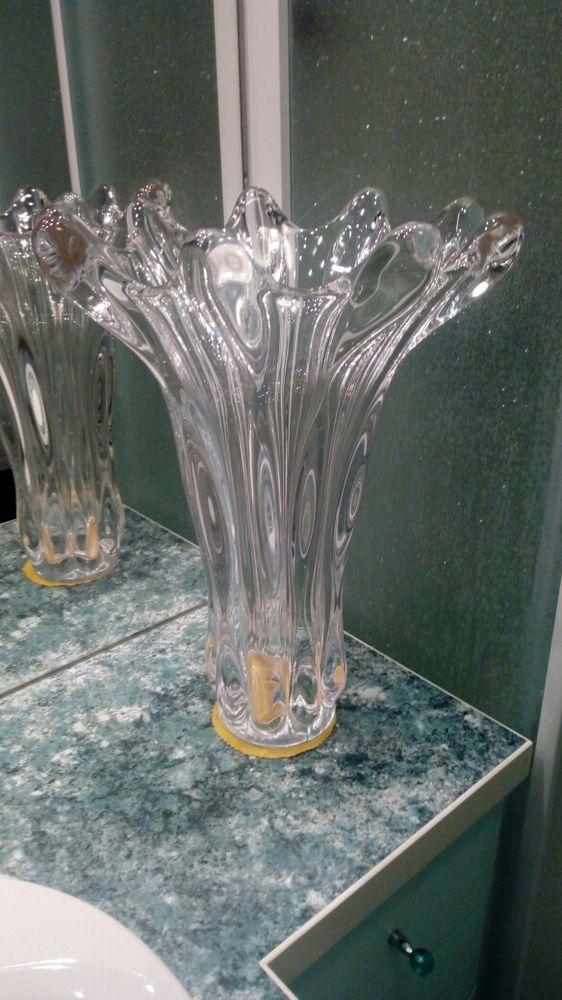 très grand vase en cristal de vannes a retirer sur place 45 Oullins (69)