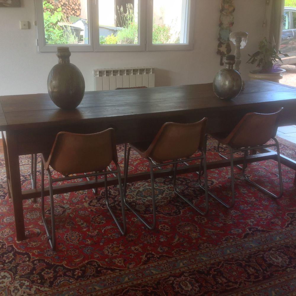 Tres Grande table 18ieme / 6 chaises cuir  0 Mazaugues (83)