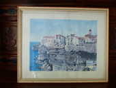 très jolie aquarelle   Bonifacio   55 Roclincourt (62)