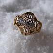 TRES JOLIE BAGUE OR JAUNE 18 CARAT AVEC DIAMANTS IMPECCABLE Bijoux et montres