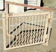 4 très lourdes petites portes massives à barreaux Bricolage