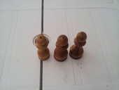 3 très petits bougeoirs en bois fait main 0 Mérignies (59)