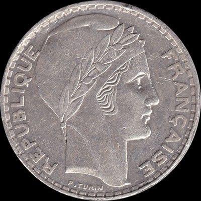 Très rare 20 francs 1936 550 Couzeix (87)