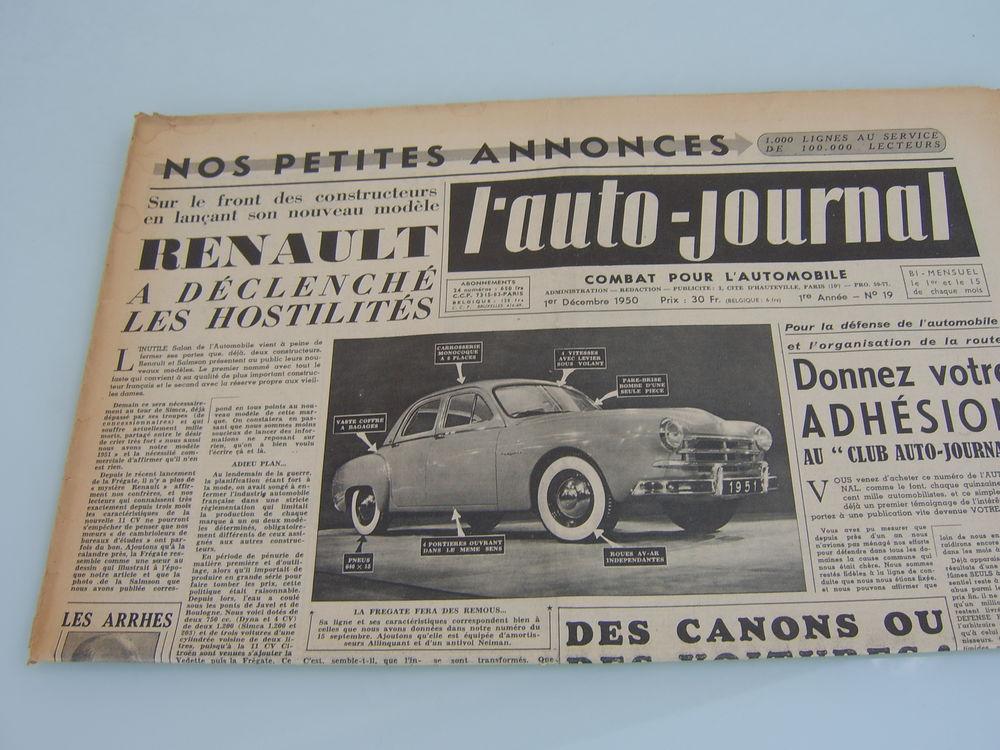 Très rares journaux années 50 et 60 de l'Auto-Journal 5 Romagnat (63)