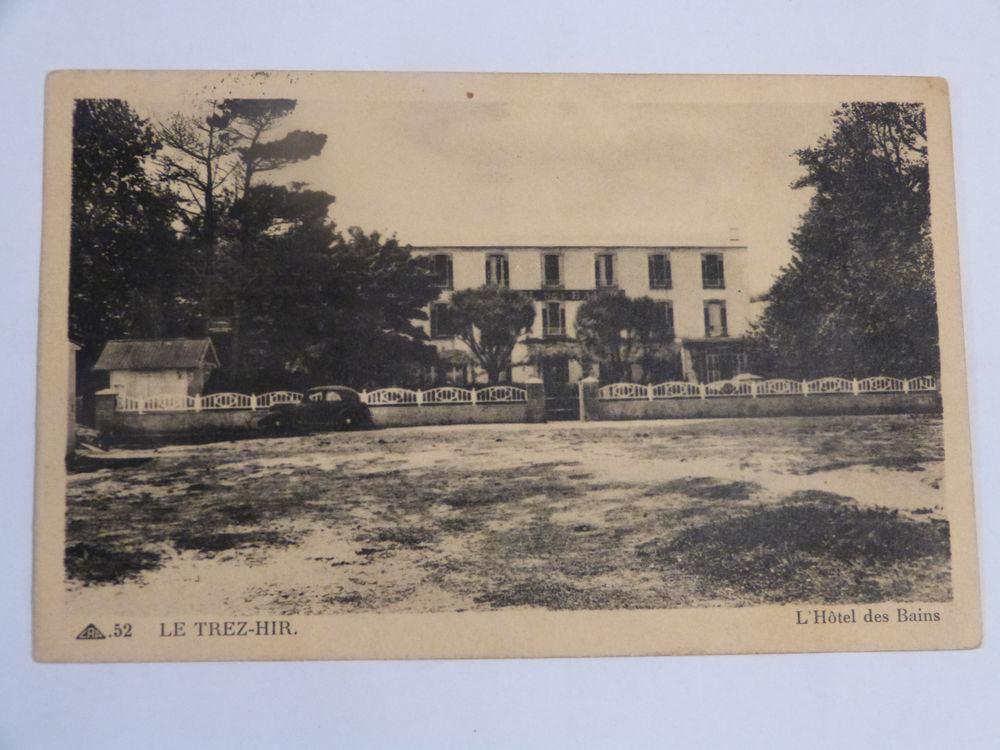 LE TREZ HIR  -  PLOUGONVELIN - L' HOTEL LES BAINS avec auto 5 Brest (29)
