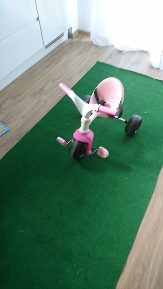 Tricycle be move rose rose SMOBY 15 Cailly (76)