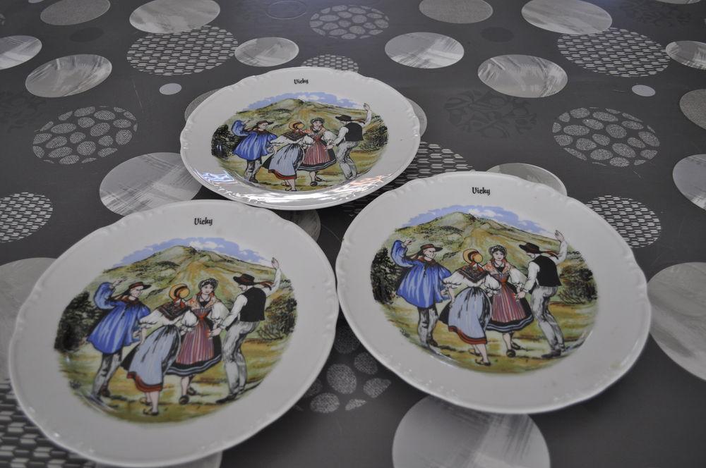 Lot de trois assiettes Vichy 10 Perreuil (71)