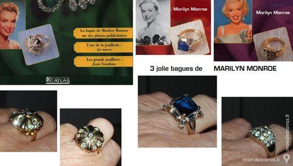 Trois Bagues de Collection « MM » 35 Antibes (06)