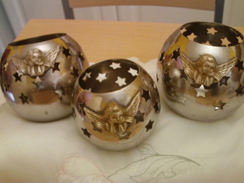 Trois globes Angelo porte bougie N°784