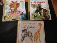 Trois livres animaux sauvages jeunes enfants 1 Mérignies (59)