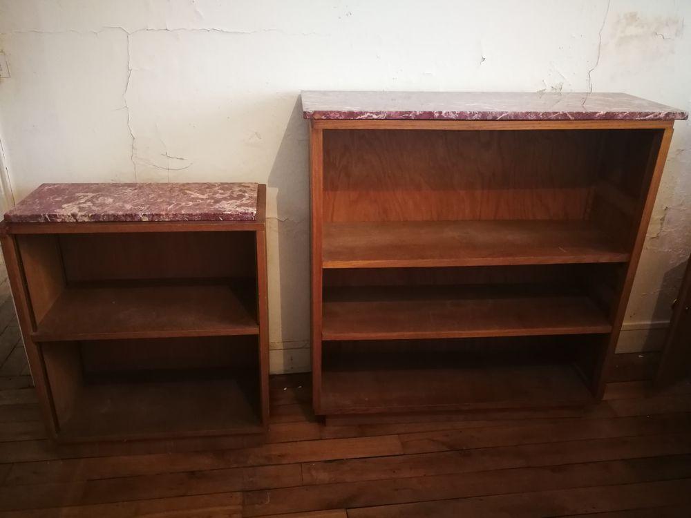 trois meubles de rangement en chêne en bon état. 0 Paris 18 (75)