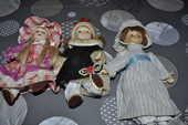 Lot de trois poupées en porcelaine 5 Perreuil (71)