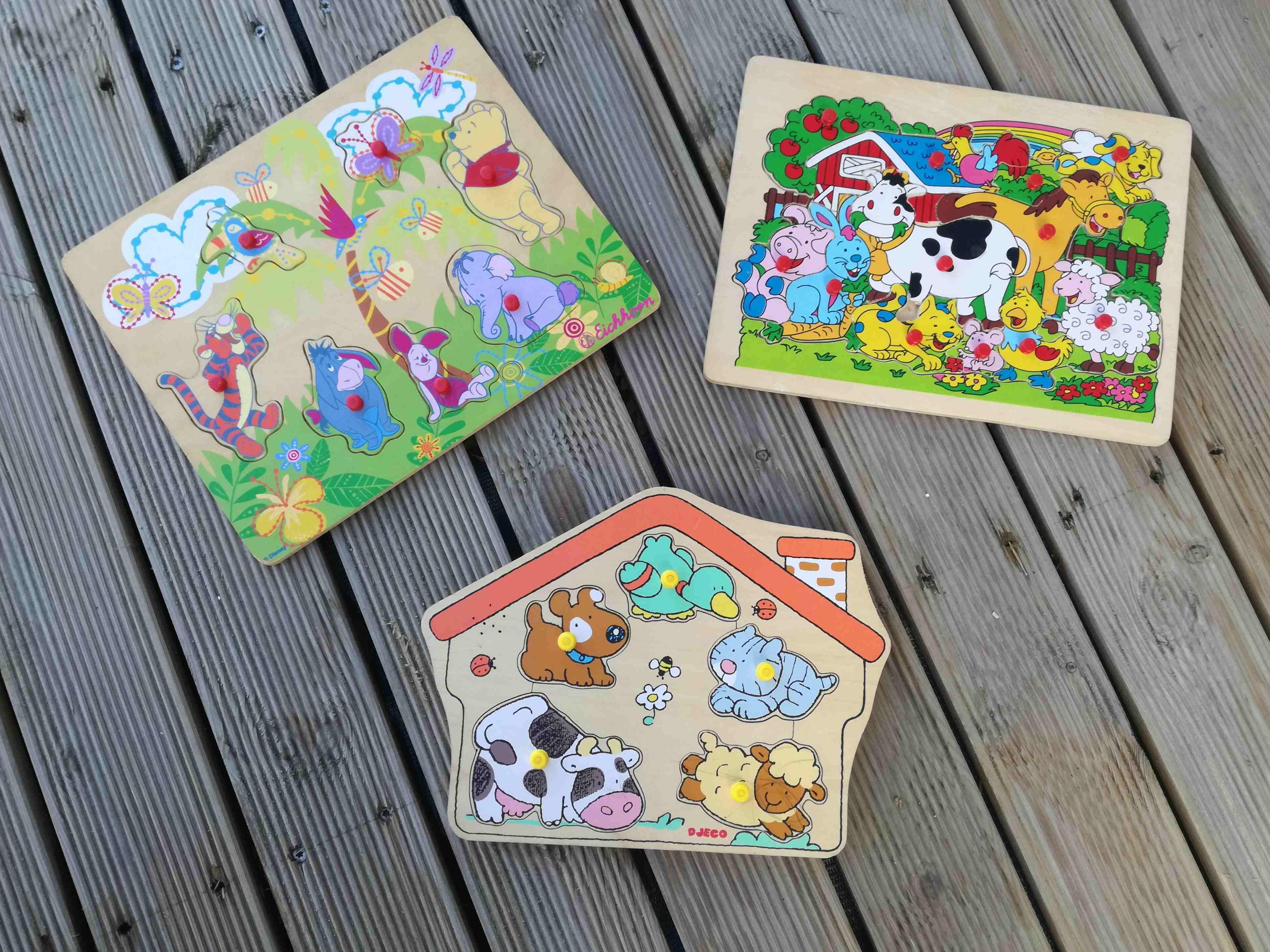 Lot de trois puzzles en bois 3 Les Clouzeaux (85)