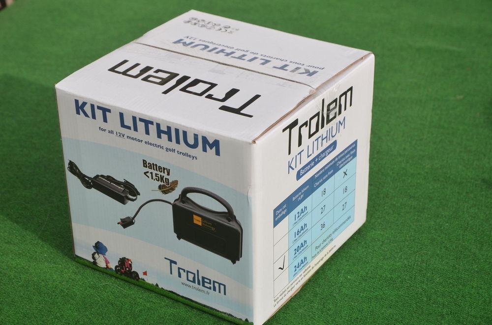 TROLEM KIT Batterie Lithium 16 AH CHARIOT DE GOLF 12V  220 Laberlière (60)
