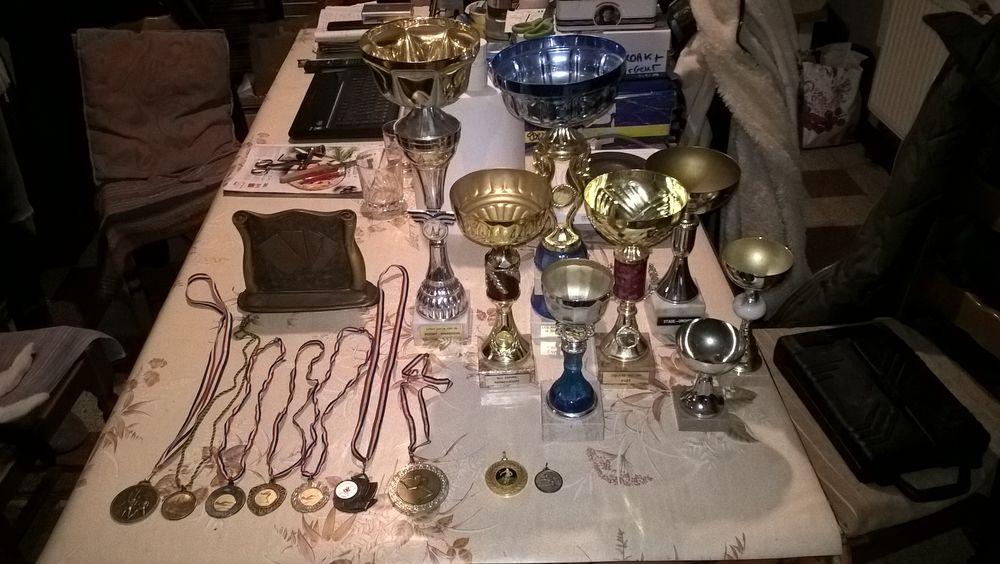 Trophées, coupes, médailles diverses. 16 Flers-en-Escrebieux (59)