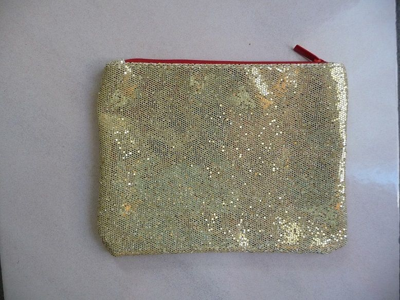 Trousse en tissu paillettes dorées glissière Rouge NEUVE  5 Montigny-le-Bretonneux (78)