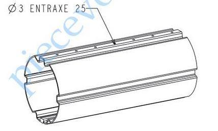 Tube pour enroulement volet roulant L = 2,75 m 30 Bléré (37)