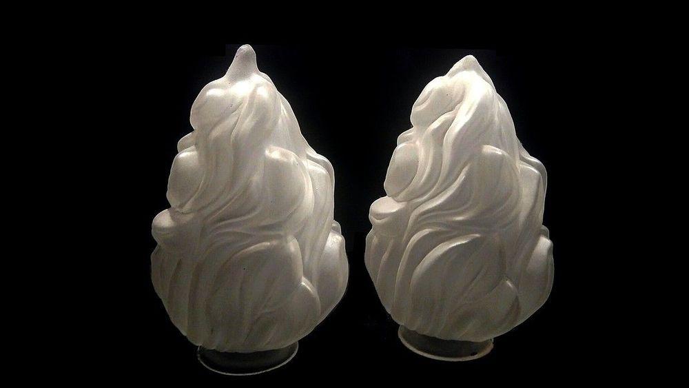 1 une Tulipe flamme empire pâte de verre pressée lampe lustr 40 Marseille 13 (13)