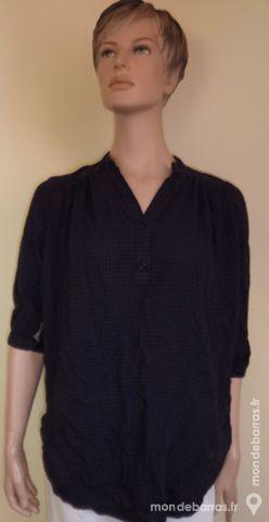 tunique / chemise longue YESSICA bleu nuit / noir 3 Bonnelles (78)