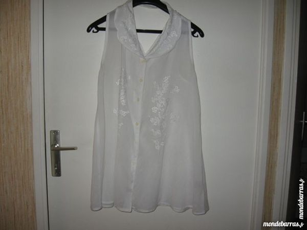 Tunique/chemise longue blanche T38 TBE 5 Tarascon (13)
