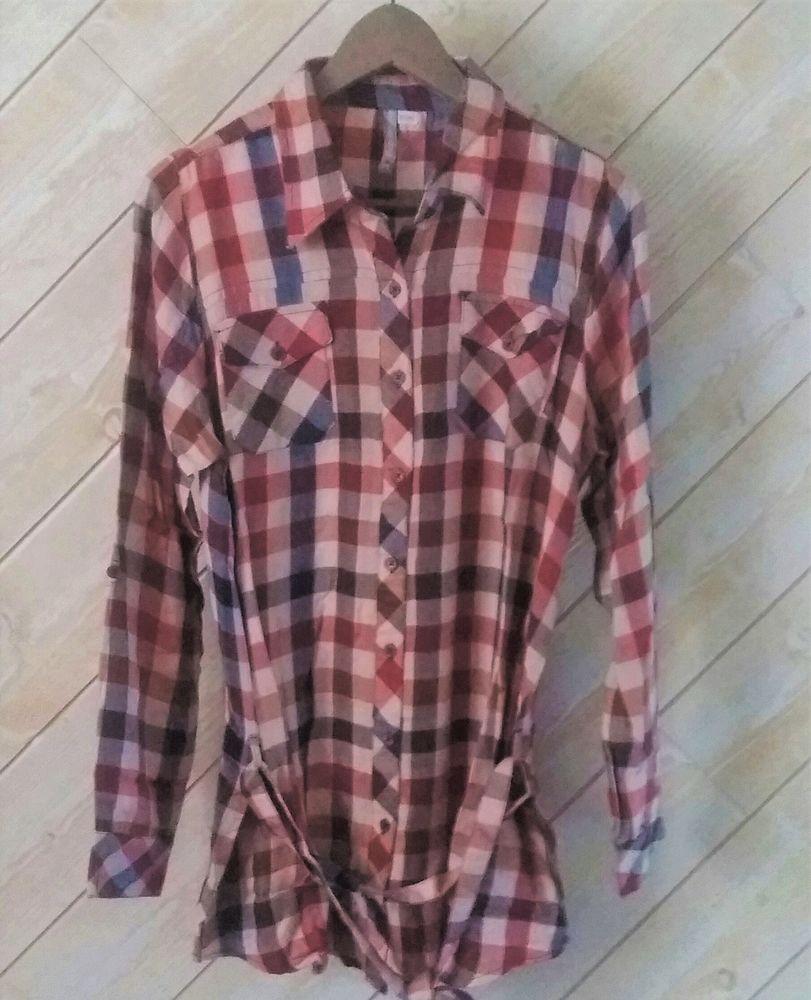 Tunique chemise longue Mode carreaux rouge neuve T 38 - 40   8 Domart-en-Ponthieu (80)