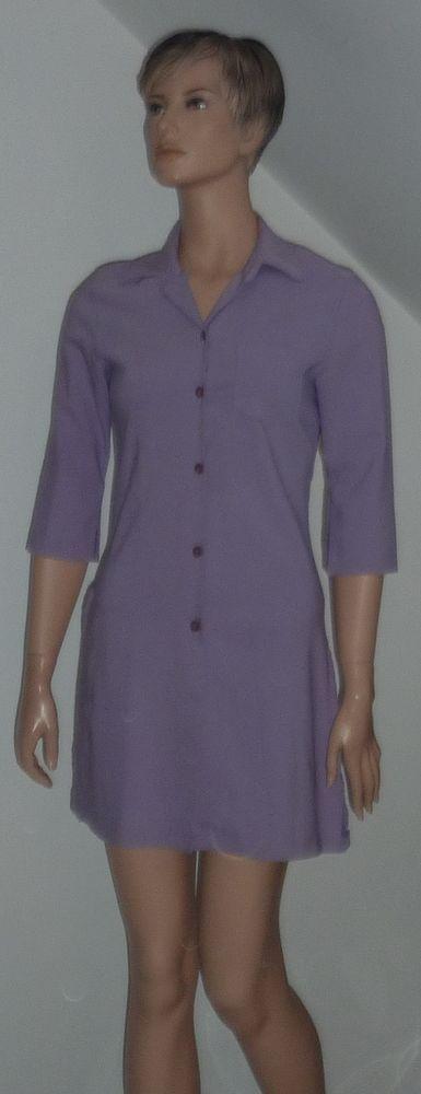 tunique / robe chemise longue violine MIM T 1 : 36 38 3 Bonnelles (78)