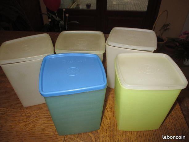 Lot de tupperwares rectangulaires vintage divers coloris 0 Mérignies (59)