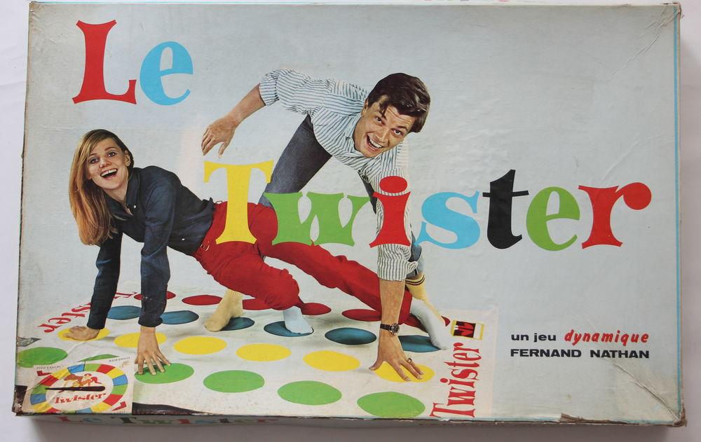 Twister  un jeu de société édité par Fernand Nathan, 1966 25 Issy-les-Moulineaux (92)