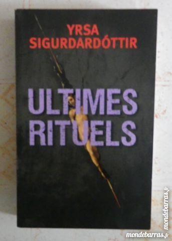 ULTIMES RITUELS d Y SIGURDARDOTTIR France Loisirs 6 Attainville (95)