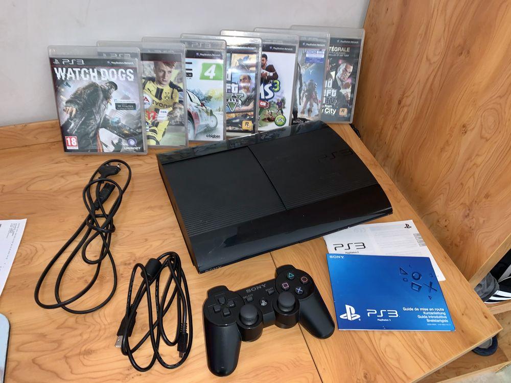 PS3 ULTRA SLIM 500GB + 7 JEUX 90 Aubenas (07)
