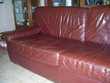 URGENT  canapé + deux fauteuils cuir + table de salon   Nogent-le-Bernard (72)