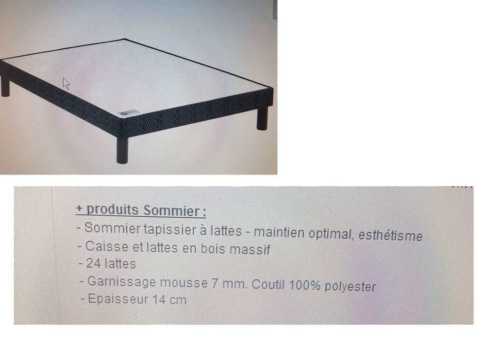 sommiers occasion montpellier 34 annonces achat et vente de sommiers paruvendu. Black Bedroom Furniture Sets. Home Design Ideas