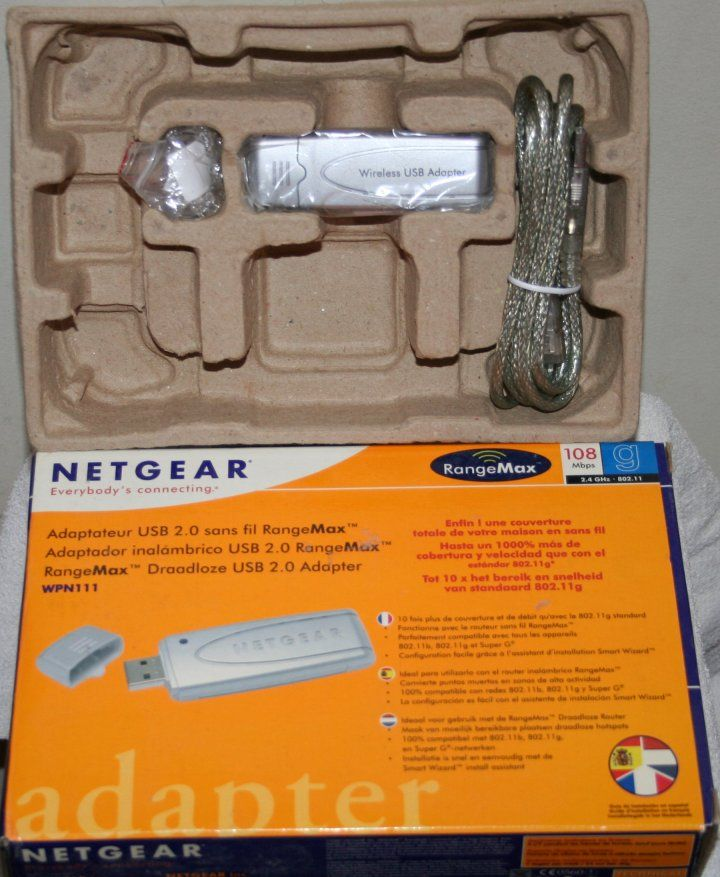 Clé USB2 WiFi Netgear WPN111 (MIMO, RangeMax 108 Mbit/s) 0 Issy-les-Moulineaux (92)